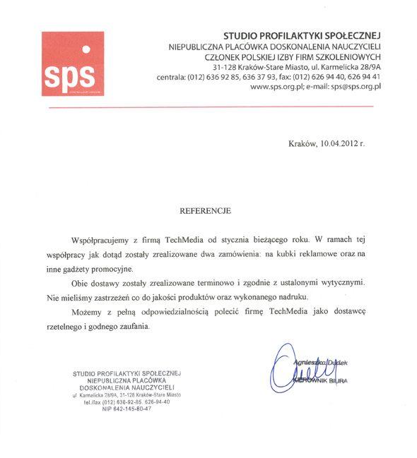 Referencje Studio Profilaktyki Społecznej