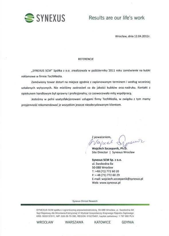 Referencje Synexus SCM