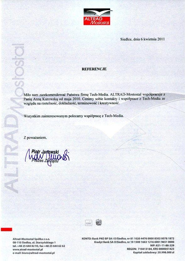 Referencje Altrad-Mostostal