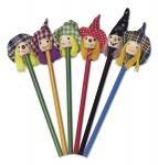"""Drewniany ołówek """"czarownica"""", mix 6 wzorów"""