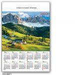 Kalendarz 2012 jednoplanszowy Dolomity