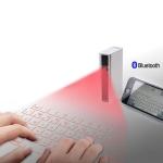 Laserowa klawiatura, powerbank, mysz i głośnik bluetooth